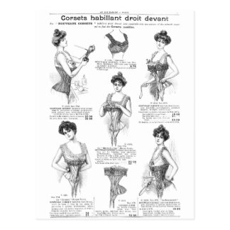 Vintage Parisian Corset Ad Postcard