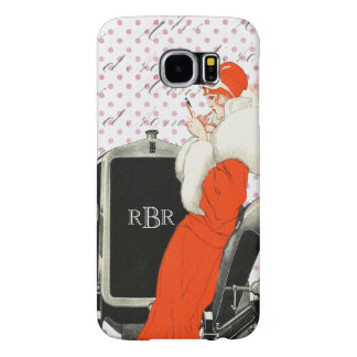 Vintage Parisian Fashion Image 1920's Flapper Samsung Galaxy S6 Cases