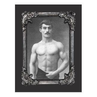 Vintage Parisian Muscle Postcard