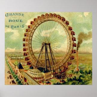 Vintage Parisian Postcard Poster