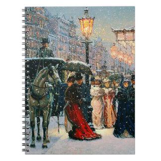Vintage Parisian Scene Fine Art Gift Notebooks