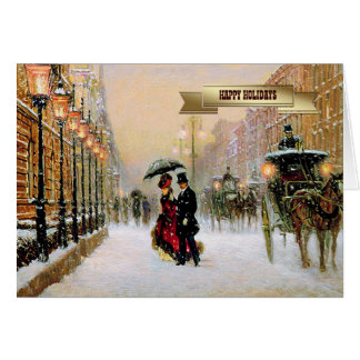 Vintage Parisian Style Christmas Cards