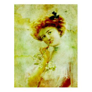 Vintage Parisian Woman Postcard