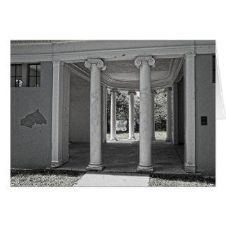 Vintage Parthenon Pillars Card