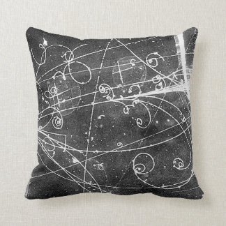 Vintage Partice Physics Tracks Throw Pillow