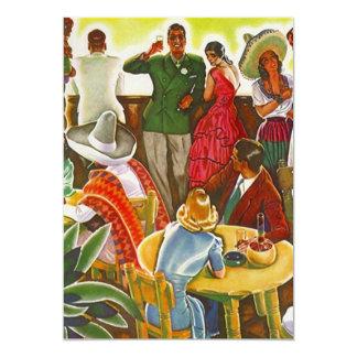 Vintage Party Fun Fiesta Mexico Blank Invitation