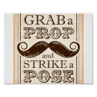 Vintage Party / GRAB A PROP STRIKE A POSE Sign