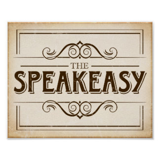 Vintage Party SPEAKEASY Sign Print