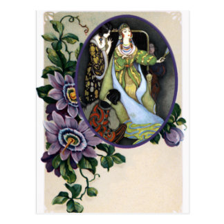 Vintage Passion Flower Frame for any Photo Postcard