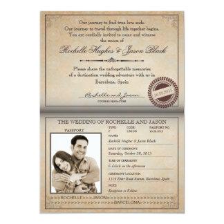 Vintage Passport Invitation