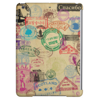 Vintage Passport Stamps Glossy iPad Air Case