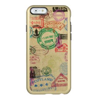 Vintage Passport Stamps Gold iPhone Case Incipio Feather® Shine iPhone 6 Case