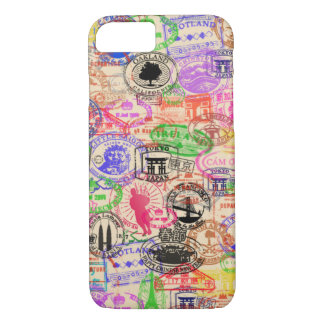 Vintage Passport Stamps iPhone 7 Case