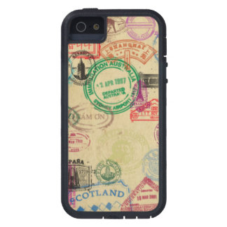 Vintage Passport Stamps iPhone Tough Extreme Case