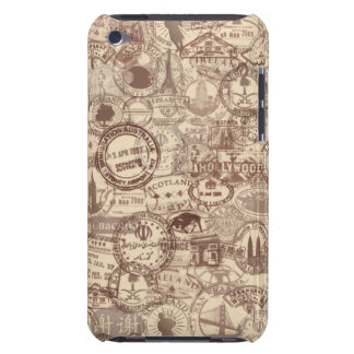 Vintage Passport Stamps iPod Case