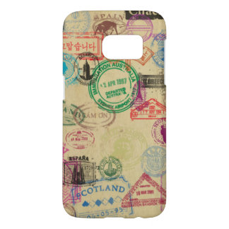 Vintage Passport Stamps Samsung Galaxy S7 Case
