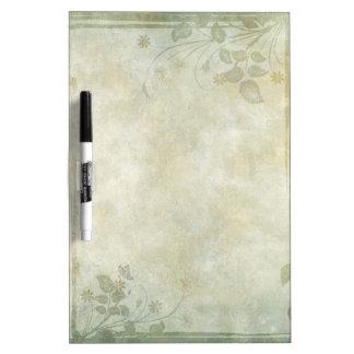 Vintage Pastel Floral Wedding Dry Erase Board