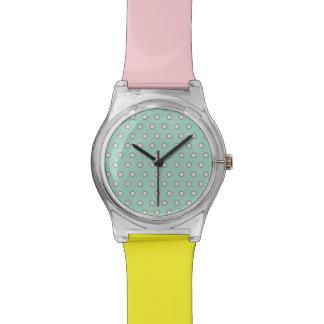 Vintage Pastel Polka Dots Watch