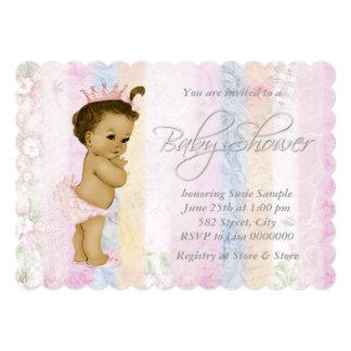 "Vintage Pastel Rainbow Baby Shower 5"" X 7"" Invitation Card"