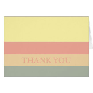 Vintage Pastel Stripes Thank You Card