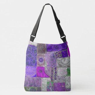 Vintage Patchwork Design. Crossbody Bag