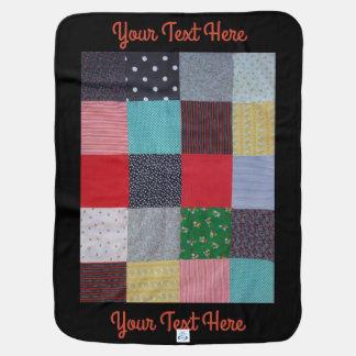 vintage patchwork fabric design colorful baby blanket