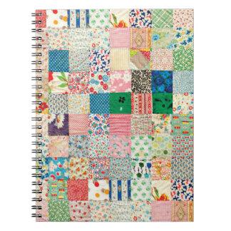 Vintage Patchwork Print Quilt Notebook