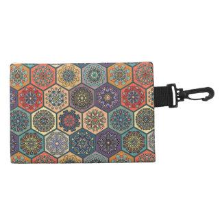 Vintage patchwork with floral mandala elements accessories bag
