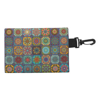 Vintage patchwork with floral mandala elements accessories bags