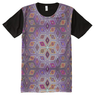 Vintage patchwork with floral mandala elements All-Over-Print T-Shirt