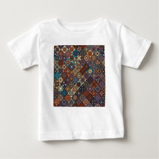 Vintage patchwork with floral mandala elements baby T-Shirt