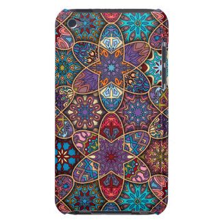 Vintage patchwork with floral mandala elements barely there iPod case