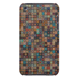 Vintage patchwork with floral mandala elements barely there iPod cover