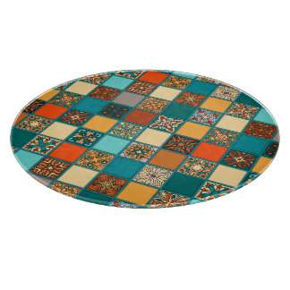 Vintage patchwork with floral mandala elements boards