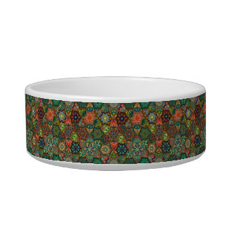 Vintage patchwork with floral mandala elements bowl