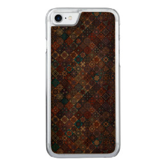 Vintage patchwork with floral mandala elements carved iPhone 7 case