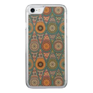 Vintage patchwork with floral mandala elements carved iPhone 8/7 case