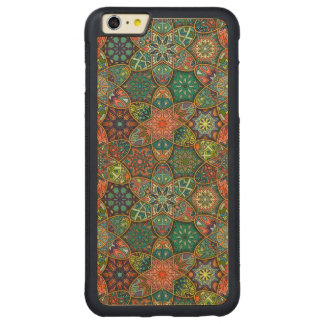 Vintage patchwork with floral mandala elements carved maple iPhone 6 plus bumper case