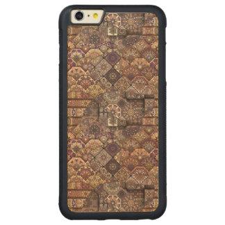 Vintage patchwork with floral mandala elements carved® maple iPhone 6 plus bumper case