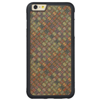 Vintage patchwork with floral mandala elements carved maple iPhone 6 plus bumper case