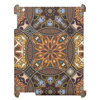 Vintage patchwork with floral mandala elements case for the iPad
