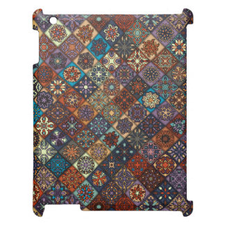 Vintage patchwork with floral mandala elements case for the iPad 2 3 4