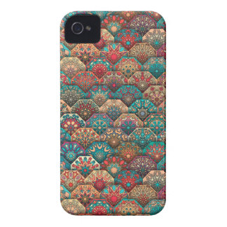 Vintage patchwork with floral mandala elements Case-Mate iPhone 4 case