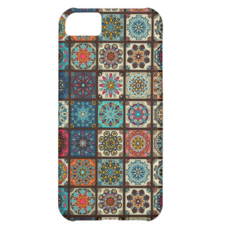 Vintage patchwork with floral mandala elements Case-Mate iPhone case