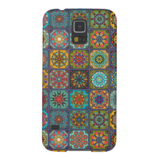 Vintage patchwork with floral mandala elements cases for galaxy s5