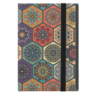 Vintage patchwork with floral mandala elements cases for iPad mini