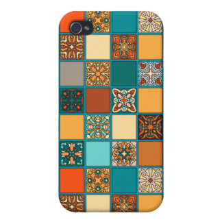 Vintage patchwork with floral mandala elements cases for iPhone 4