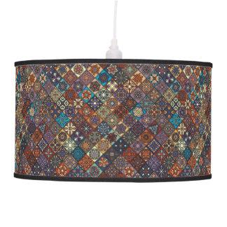 Vintage patchwork with floral mandala elements ceiling lamp