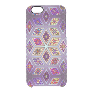 Vintage patchwork with floral mandala elements clear iPhone 6/6S case