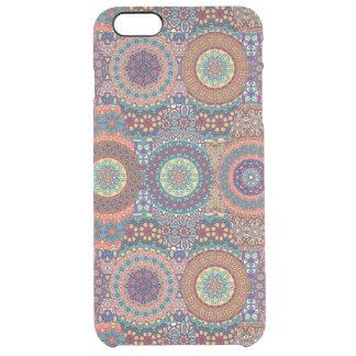Vintage patchwork with floral mandala elements clear iPhone 6 plus case